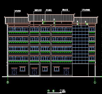 藏式建筑住宅樓建筑設計圖紙