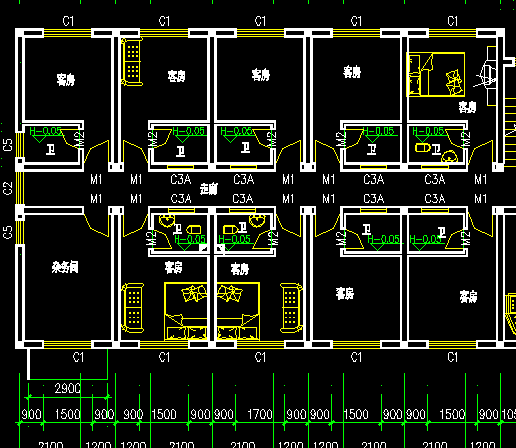 四层单身公寓楼建筑施工图纸免费下载 - 建筑户型平面
