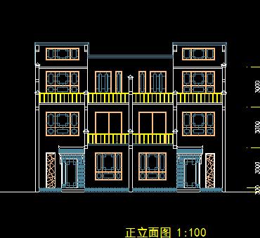 三层别墅设计平面图