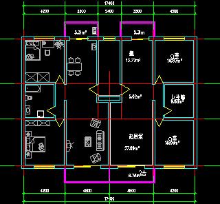 住宅楼户型平面设计图