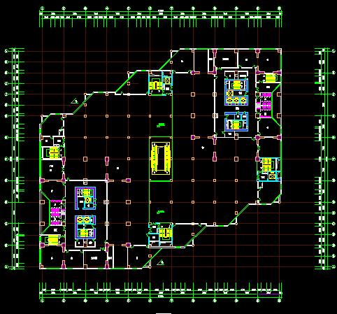 某六层商场平面设计图