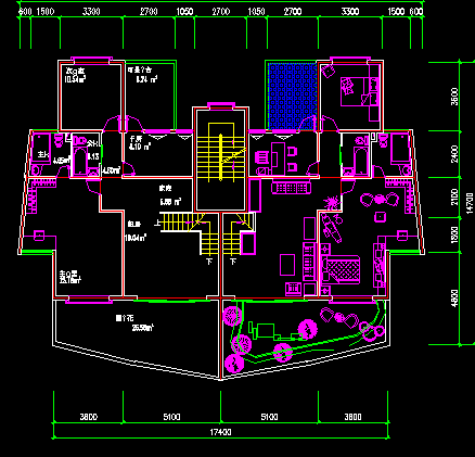 某八层弧形住宅楼建筑施工图纸