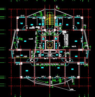 某高层核心筒住宅楼建筑施工图纸