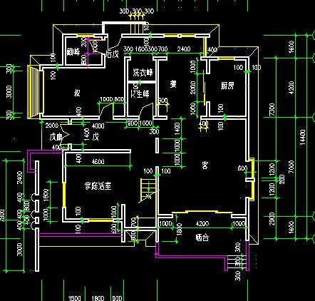 两套复式别墅户型平面图