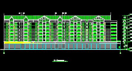 小区六层住宅建筑设计图