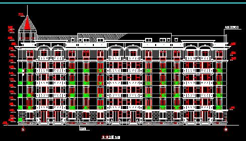 某山庄住宅楼建筑设计图