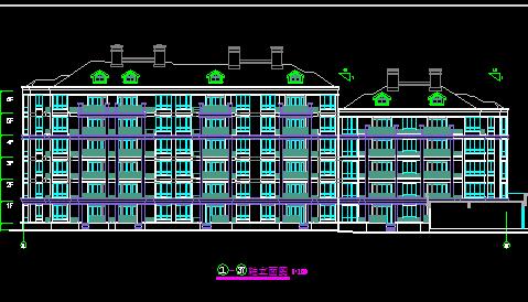 某异型柱框架住宅楼建筑图