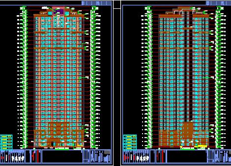 高层住宅建筑施工图纸