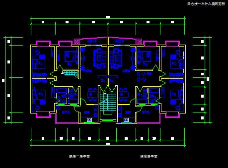 实用住宅户型平面建筑设计图