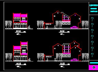城乡三层住宅楼建筑设计图免费下载 - 建筑户型平面图