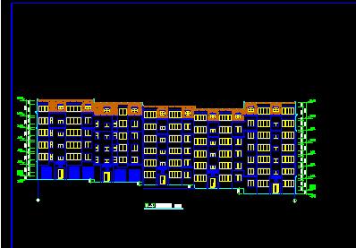 143平方米五层转角楼住宅楼建筑设计图