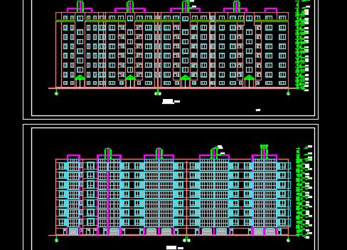 砖混结构六层住宅楼建筑施工图纸