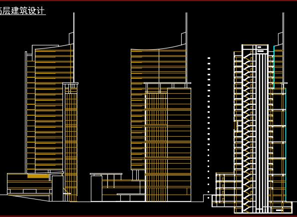 二十六层综合楼建筑设计图纸
