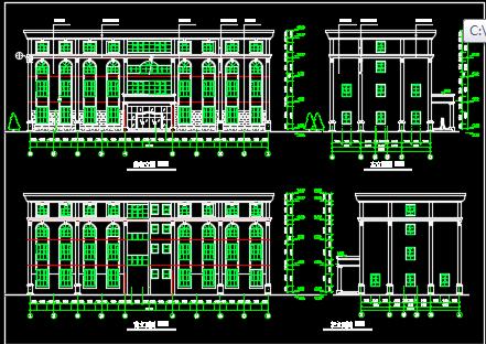 四层酒店综合楼建筑施工图纸