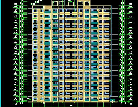 十八层住宅建筑结构施工图纸