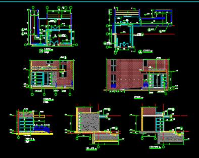 住宅楼梯、阳台、墙身节点详图