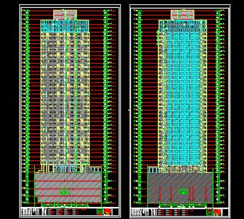 160米独栋现代风格住宅楼设计施工图纸