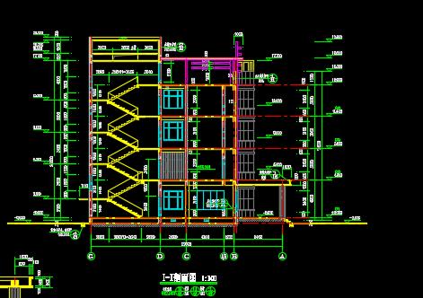 四层医院门诊楼建筑方案cad设计