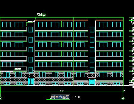 六层砖混结构住宅楼图纸