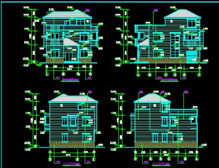 农村三层别墅自建房龙八娱乐网上娱乐图纸