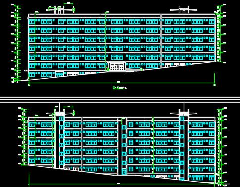 学院宿舍楼建筑施工图纸