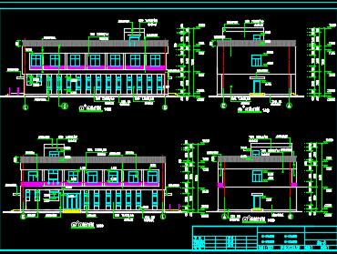 某地两层小办公楼建筑设计图纸