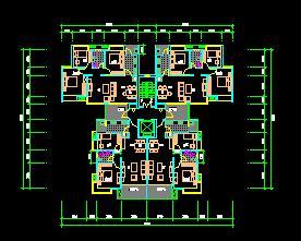 三房、二房二厅住宅户型平面图