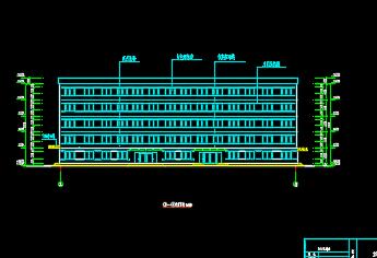 某地五层框架教学楼施工图纸(含建筑、结构)