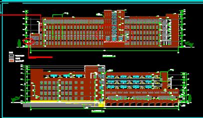 五层框架结构教学楼建筑施工图纸