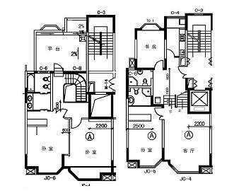 100个经典住宅户型平面图