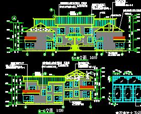 两层度假村建筑施工图纸