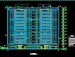 12层带地下层商住楼建筑施工图纸