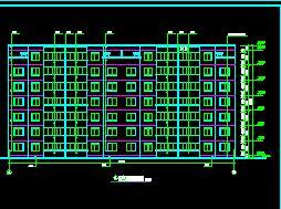 6层砖混结构职工住宅楼建筑施工图纸