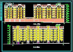 六层拐角住宅楼建筑施工图纸