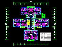 一梯四户剪刀楼梯住宅户型平面图