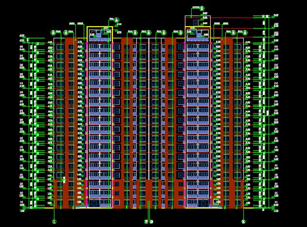 某地18层高层住宅楼香港六合开奖直播设计图纸