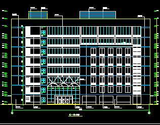 8层框剪结构老年活动中心建筑施工图纸