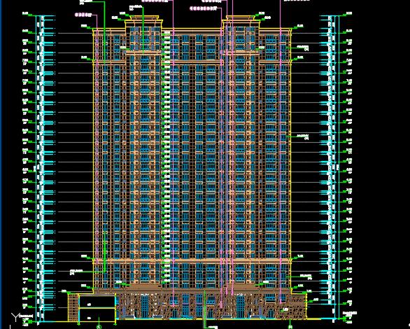 某二十八层住宅楼建筑施工图纸