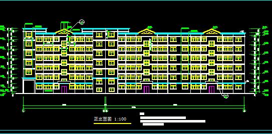 六层住宅楼建筑施工图纸