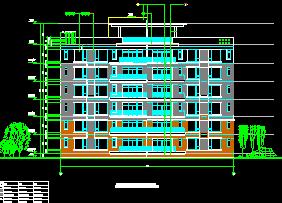 六层住宅楼建筑施工图纸包括:住宅北立面详图、剖面详图、住宅首层平面详图、住宅北立面详图等供大家参考