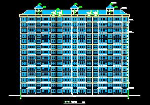 14层住宅楼建筑施工图纸包括:二~九层平面图、一层平面图、二层平面图、单元平面图、屋顶平面图 等供大家参考