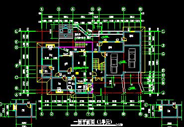 七层住宅楼建筑设计图纸包括:屋顶平面图(1-5单元)、拼接平面图、剖面图、立面图、一层平面图(1单元)、标准层平面图(1单元)、六层平面图(1单元)、楼梯间平面图(1-5单元)、侧立面 等供大家参考