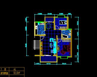住宅楼4887铁算盘户型设计图纸