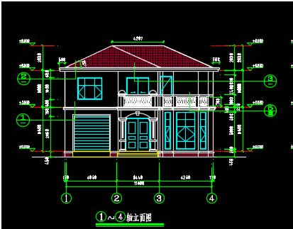 两层别墅建筑、结构设计图纸