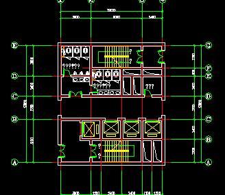 高层核心筒结构住宅楼户型平面图