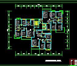 13个一梯两户住宅户型设计图纸
