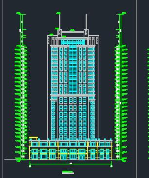 二十七层酒店全套建筑施工图纸
