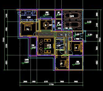 三居室联排别墅户型平面图1