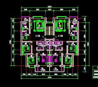 26个多层住宅户型平面图