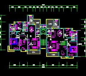 一梯二户小高层住宅户型平面图